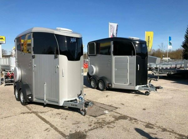 Ifor Williams HBX 506 Frontausstieg silber